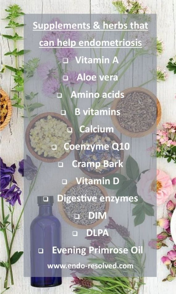 Herbs and supplements that can help endometriosis
