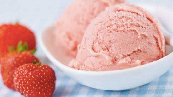 Strawberry and coconut ice-cream recipe