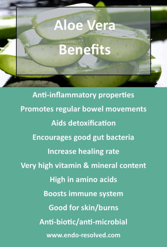 Aloe vera benefits that can help endometriosis symptoms