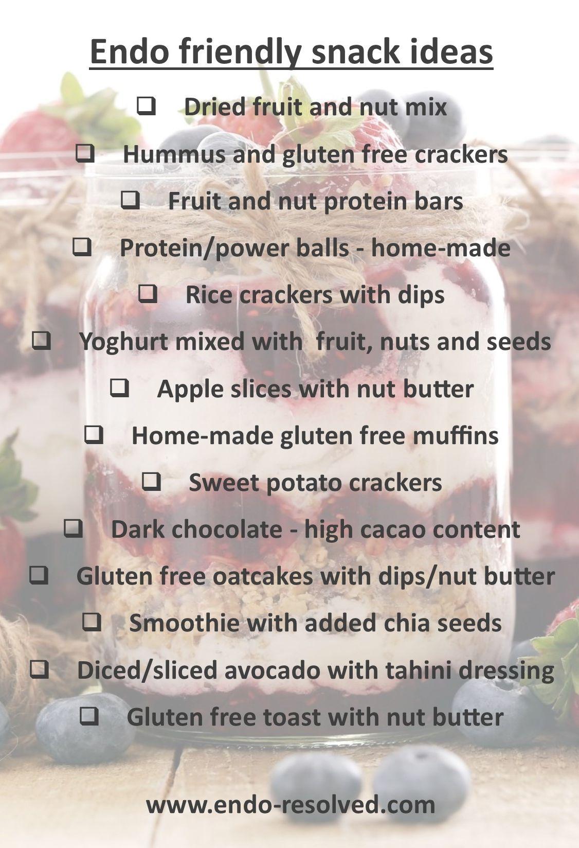 Endometriosis diet snack ideas