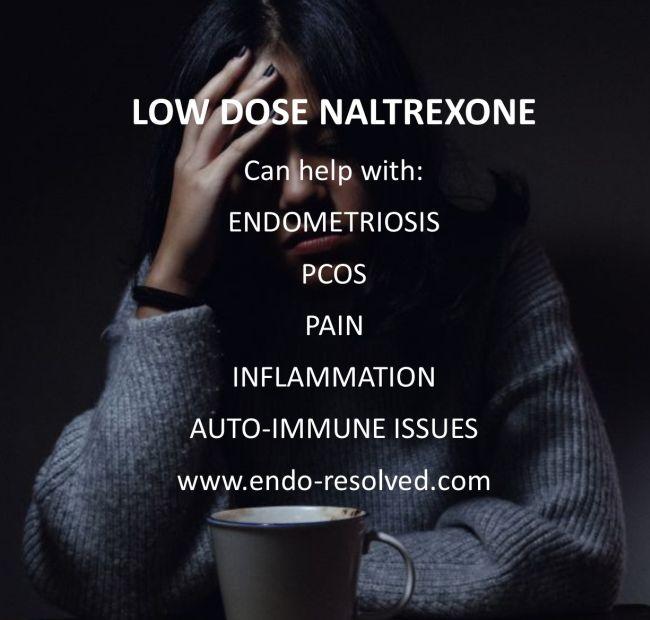 Low dose naltrexone can help endometriosis