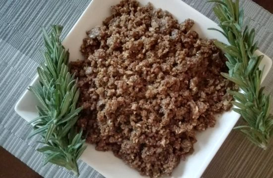 Savoury nut mince recipe for the endometriosis diet