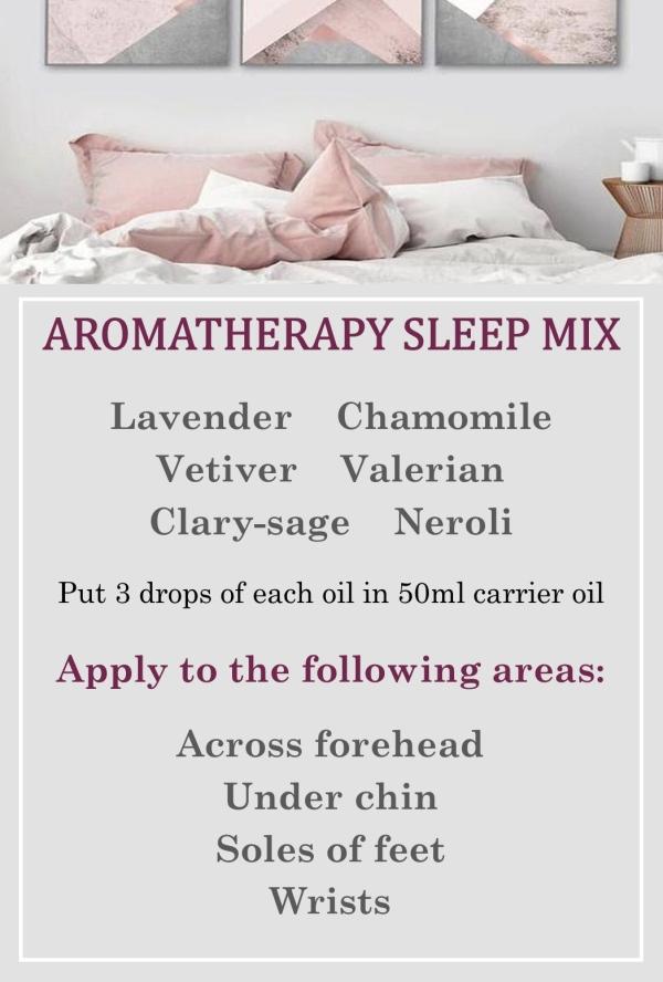 Aromatherapy sleep mix to help with endometriosis