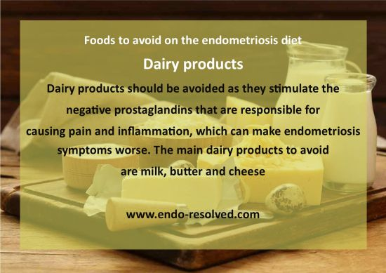 Why dairy should be omitted from diet with endometriosis
