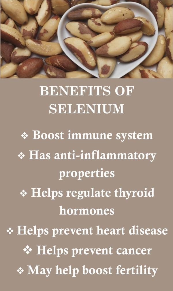 Benefits of selenium