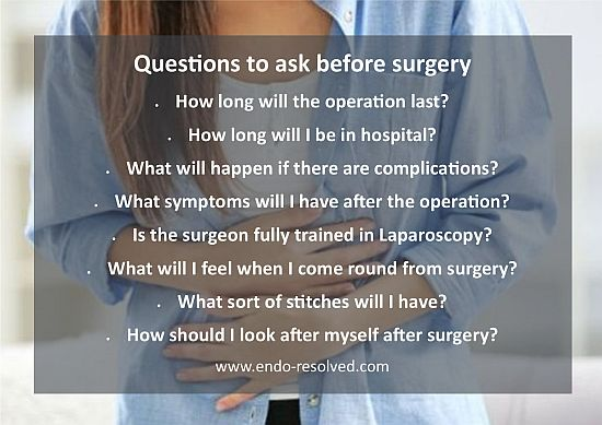 Questions to ask before surgery for endometriosis
