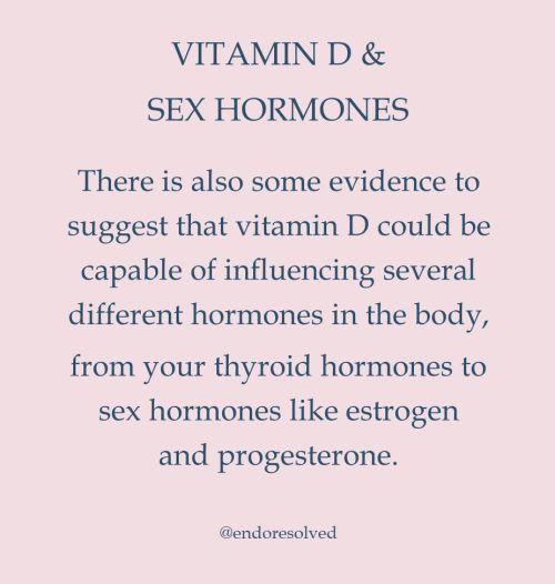 Vitamin D and sex hormones