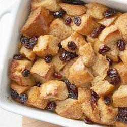 Cinnamon and raisin bread pudding - endometriosis friendly recipe