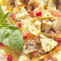 Chilli chicken pasta salad - endometriosis diet