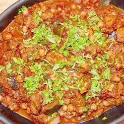 Courgette chick pea casserole