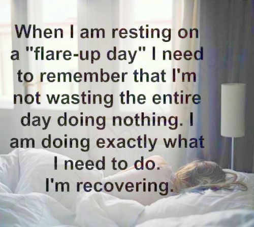 Resting on an endometriosis flare day