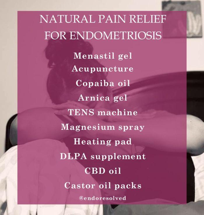 Natural pain relief for endometriosis