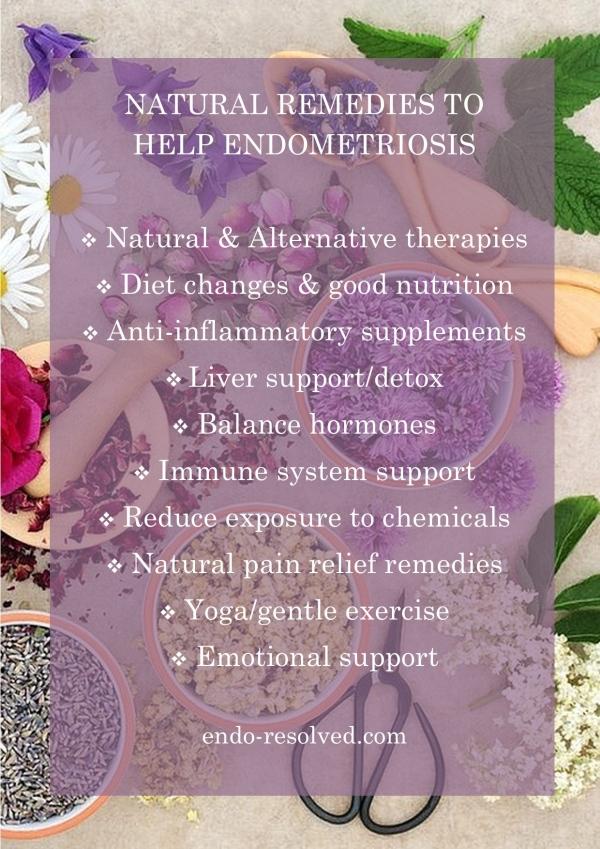 Natural remedies to help endometriosis